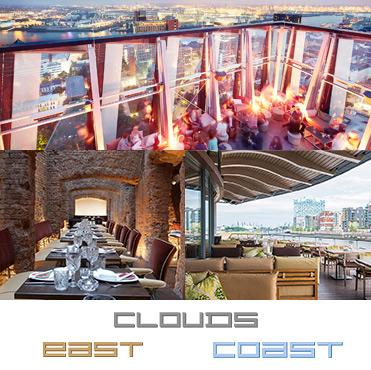 east coast und clouds hamburg restaurant gutscheine. Black Bedroom Furniture Sets. Home Design Ideas