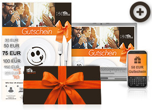 Verschenken Sie Gutscheine ganz einfach per Post, SMS, Fax oder über unsere Webseite